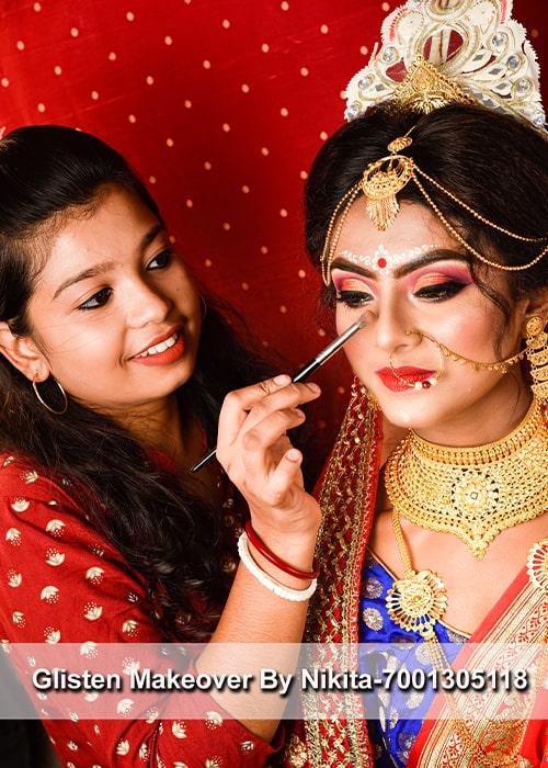 Glisten Makeover-best makeup artist in kolkata